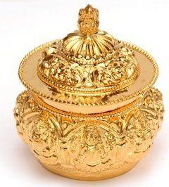 22K Gold Kumkum Box