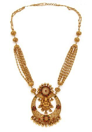 22K Gold Temple Jewellery Necklaces