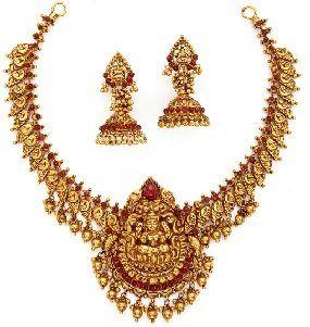 22K Temple Jewellery Necklace Sets