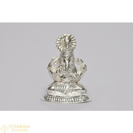 Silver Ganeshji Murti Idol Statue (Hollow) - 1-S38 - Buy this Latest Indian Gold Jewelry Design in 40.700 Grams for a low price of $171.80