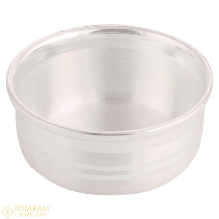 Silver Small Prasadam Katori - Bowl for Pooja - 1-S16 - Buy this Latest Indian Gold Jewelry Design in 10.500 Grams for a low price of  $54.99