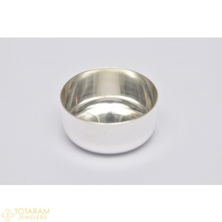 Silver Annaprasana Plain Katori - Bowl for Pooja - 1-S32 - Buy this Latest Indian Gold Jewelry Design in 53.000 Grams for a low price of  $220.94