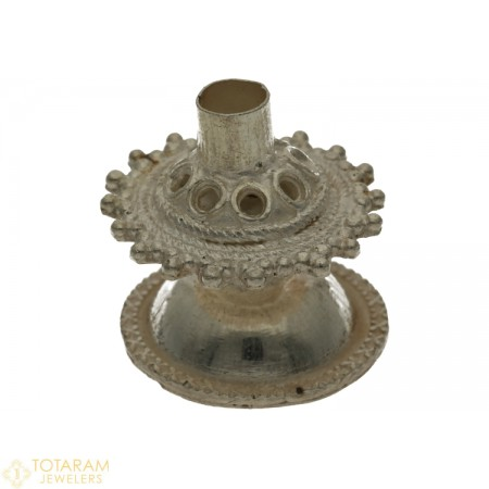 Silver Dhoop Stand for Pooja - 1-S15 - Buy this Latest Indian Gold Jewelry Design in 10.100 Grams for a low price of  $41.61