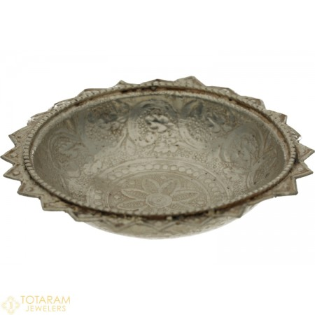 Silver Floating Diya for Pooja - 1-S13 - Buy this Latest Indian Gold Jewelry Design in 10.500 Grams for a low price of  $42.07