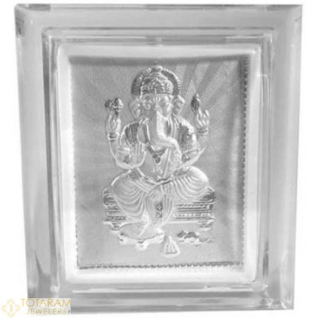 Silver Ganeshji Self Stand Small Photo Frame For Car or Office Table - 1-S21 - Buy this Latest Indian Gold Jewelry Design in Grams for a low price of $12.99