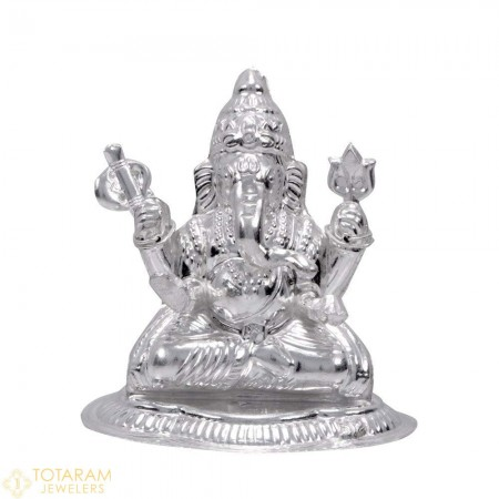 Ganeshji Silver Murti Idol Statue (Hollow) - 1-S40 - Buy this Latest Indian Gold Jewelry Design in 32.800 Grams for a low price of $137.71
