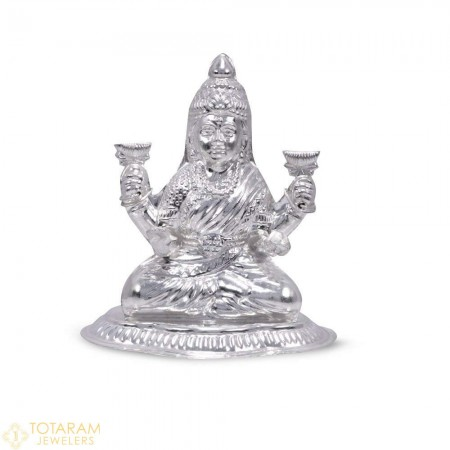Lakshmi Silver Murti Idol Statue (Hollow) - 1-S41 - Buy this Latest Indian Gold Jewelry Design in 30.000 Grams for a low price of $124.49